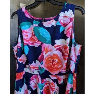 Eliza J Navy Floral Dress